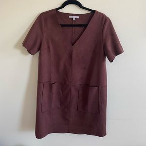 Ariya Suede Dress - Maroon